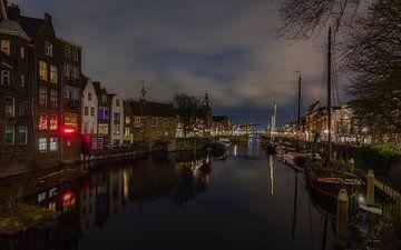 Delfshaven bij nacht (Rotterdam) NL