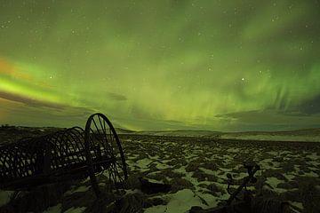 Nordlicht über Island von Leon Eikenaar