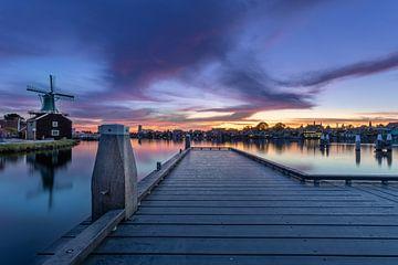 Zaanse Schans - Sonnenuntergang von Fotografie Ploeg