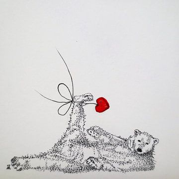 HeartFlow ijsbeer von Helma van der Zwan