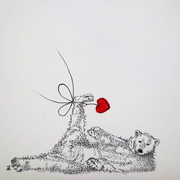 HeartFlow ijsbeer van Helma van der Zwan