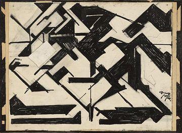 Reijer Stolk, Horseman, Feder in Schwarz, Bleistift, 1920