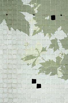 Bladermuur mozaïek van Akira Peperkamp