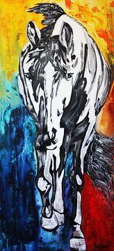Zilveren Paard van Kathleen Artist Fine Art