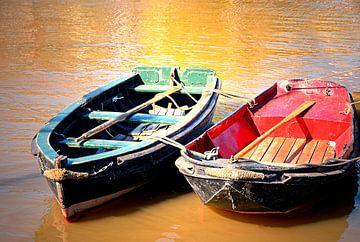 zwei Boote von Inge Knol