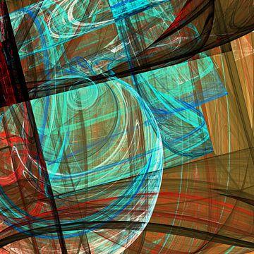 Composition abstraite 460 van Angel Estevez