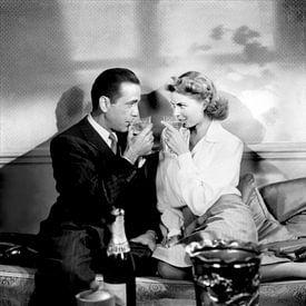 Humphrey Bogart und Ingrid Bergman in Casablanca, 1943 von Bridgeman Images