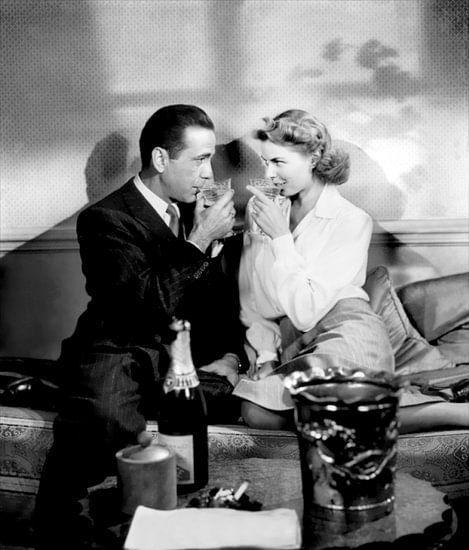Humphrey Bogart en Ingrid Bergman in Casablanca, 1943.