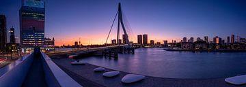 Erasmusbrücke - Panorama - Rotterdam von Fotografie Ploeg
