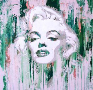 Marilyn Monroe Abstrakt Green Pop Art