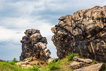 Felsen an der Teufelsmauer im Harz von Rico Ködder