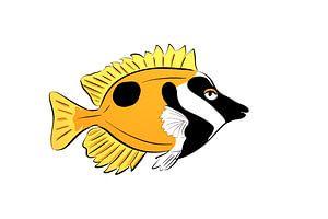 Fuchskopf-Fisch Lustig