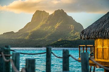 Mount Otemanu Bora Bora van Ralf van de Veerdonk