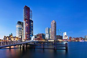 Rijnhaven Rotterdam met zicht op Hotel New York
