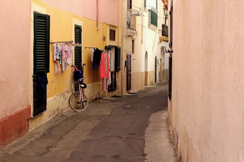 Schilderachtig straatje, Italië van Inge Hogenbijl