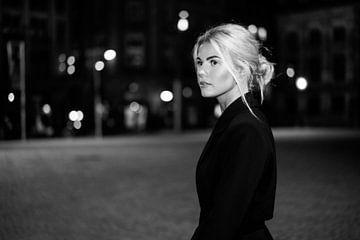 Modelfotografie Amsterdam, by night van Anouk Boonstra