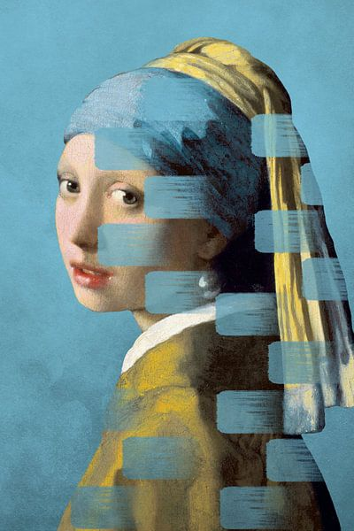 Girl with the Pearl Earring - The Wipe Out Edition sur Marja van den Hurk