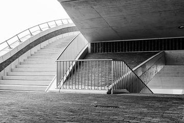 trappenconstructie van de brug de Oversteek van eusphotography