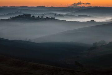 Prachtige mist in Toscane von Roy Poots