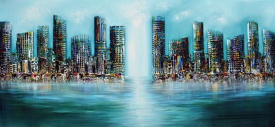 Blue City van Gena Theheartofart