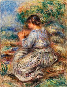 Renoir, Junges Mädchen sitzend in einem Garten (1914)