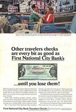 TRAVELER CHECKS reclame 60s van Jaap Ros