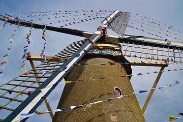 Windmühle Windvang in Goedereede dekoriert von Rob Pols