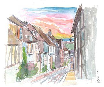 Romantische Rye Mermaid Street mit Blick auf East Sussex von Markus Bleichner