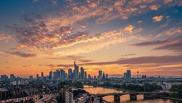 Zonsondergang in Frankfurt am Main