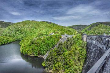 Stuwdam in de Eifel van Martin Van der Pluym