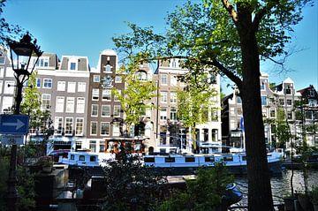 Grachtenpanden in Amsterdam von Marije van der Vies