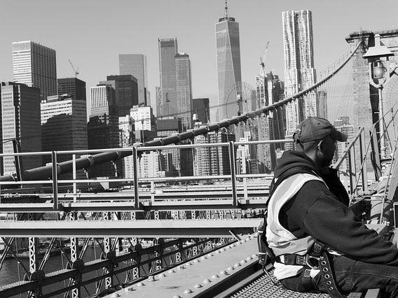 skyline new york brooklyn bridge work