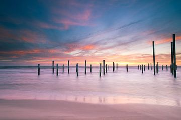 Sommerlicher Sonnenuntergang von Rudi van Drunen