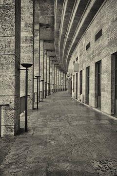 Perspectief in het Olympisch Stadion in Berlijn van Dennis Morshuis