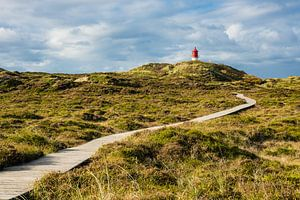 Lighthouse in Norddorf on the island Amrum