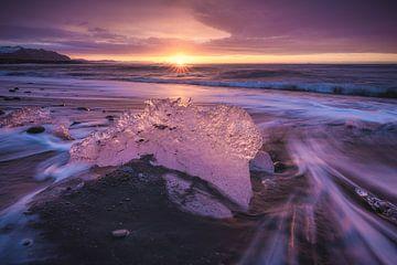 Eiland Diamant Strand Zonsopgang van Jean Claude Castor