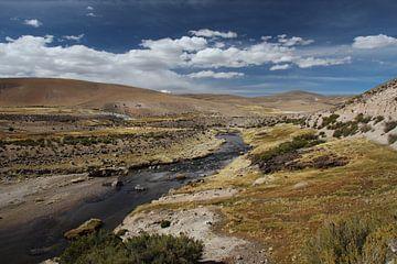 Fluss Stream, Altiplano, Bolivien von A. Hendriks