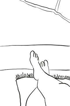 Strand voeten van MishMash van Heukelom