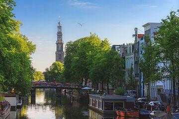 Prinsengracht Amsterdam met Westerkerk