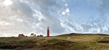 Landschap Vuurtoren op Texel von Ronald Timmer