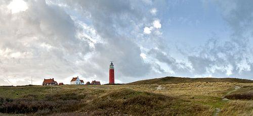 Landschap Vuurtoren op Texel van Ronald Timmer