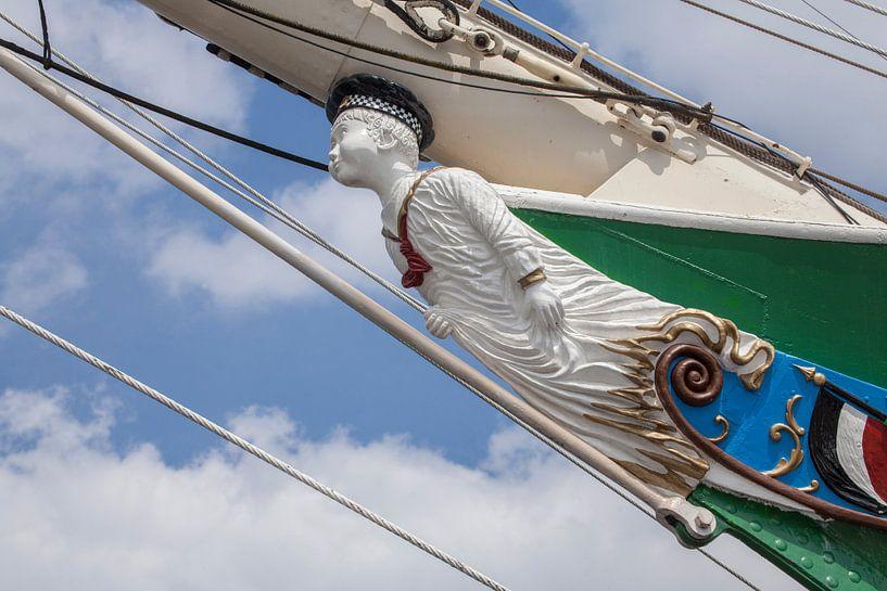 Boegbeeld van het zeilschip Rickmer Rickmers, Hamburg, Duitsland, Europa van Torsten Krüger