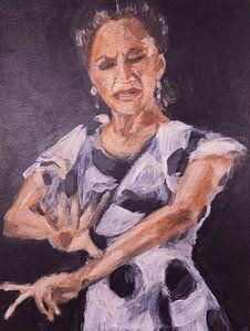 Spanische Tänzerin von Mieke Daenen