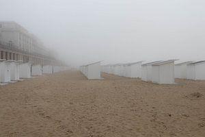 Oostende in de mist van Gerrit van Leeuwen
