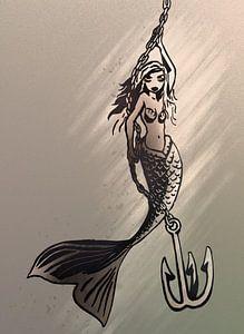 Braun- und Taupetöne - Meerjungfrau mit Halskette