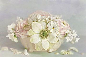 Bloem romantisch - fijn pastel van Lizzy Pe