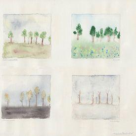7 bomen in 4 seizoenen van Wieland Teixeira