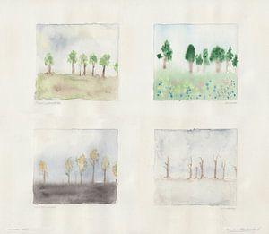 7 Bäume in 4 Jahreszeiten von Wieland Teixeira