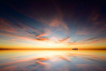Sunset reflections van Martijn Kort