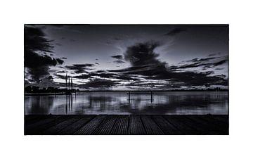 de zonsopkomst in het Wormer en Jisperveld op een late zomerochtend van Studio de Waay